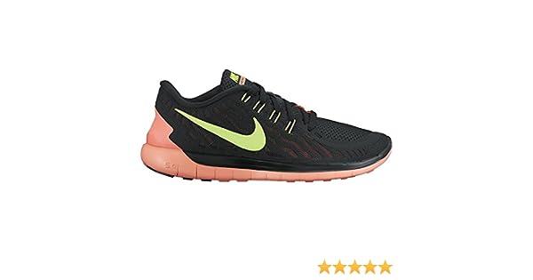 best sneakers 54417 5599f Amazon.com   Womens Nike Free 5.0 Running Shoes Black/Bright Mango/Volt (5  B(M) US)   Road Running