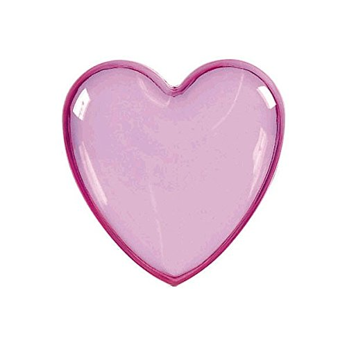 Heart-Shaped Plastic Container | Pink | Party Accessory ()
