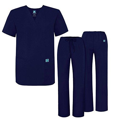 ADAR UNIFORMS Adar Mens Medical Scrubs Set Medical Uniforms - Roomy Fit - 701 - NVY -XL by ADAR UNIFORMS (Image #1)