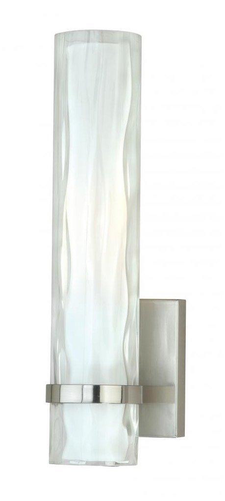 Vaxcel W0049 Vilo 1 Light Wall Light, Satin Nickel Finish