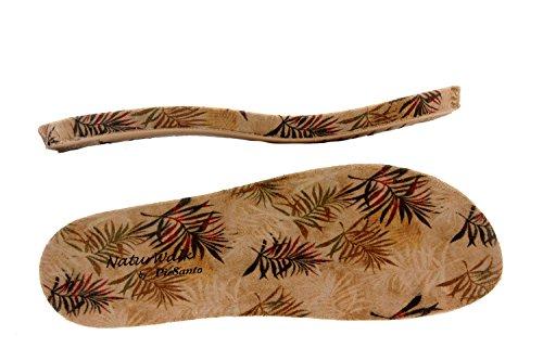 Calzado mujer confort de piel Piesanto 8903 sandalia velcro plantilla extraíble cómodo ancho Visón