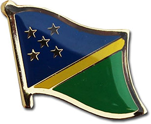 Flagline Solomon Islands - National Lapel Pin ()