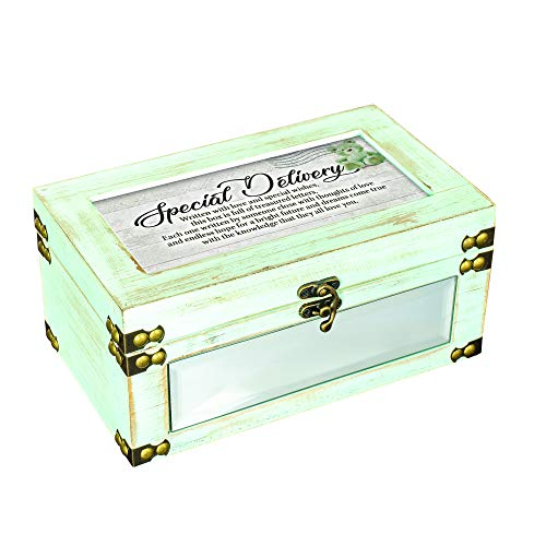 Cottage Garden Special Delivery Written with Love Distressed Celadon Green Keepsake Box with 25 Envelopes Set