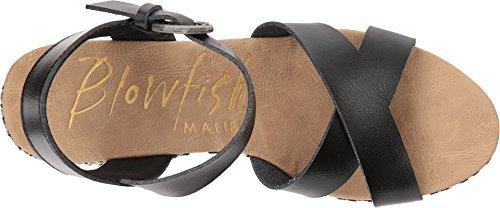 Blowfish Tickle-B Black Dyecut PU Womens Wedge Sandals Size 6.5M
