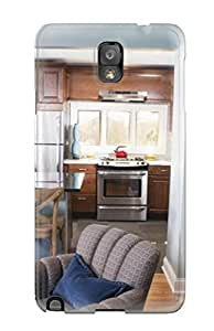 New Arrival Premium Note 3 Case Cover For Galaxy (open Kitchen-dining-living Area With Countertop Seating)