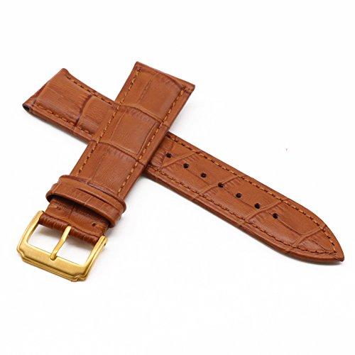 AUTULET Premium Leather Watch Straps for gentlemen Brown Sport Watch Bands 17MM