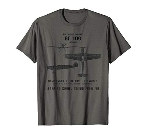 Bf 109 Spotter Series WWII German Fighter Airplane T-Shirt ()