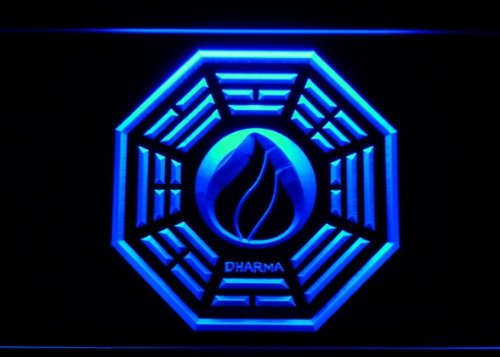 Dharma Stations Initiative Flame Lost Neon ()