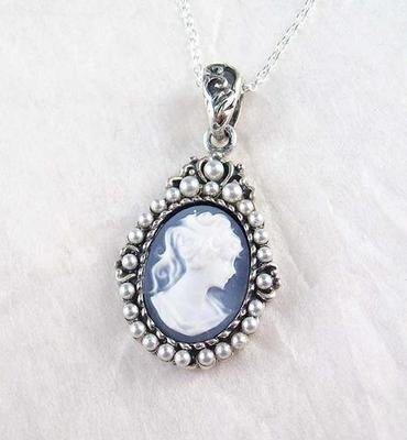 Pearls-and-Blue-Cameo-Necklace