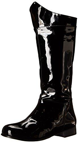 Adult Black Boots (Funtasma Men's Hero 100 Engineer Boot, Black Patent, Medium/10-11 M US)