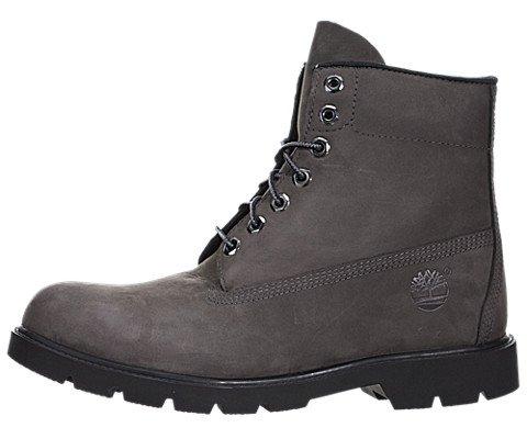 Timberland Men's Six-Inch Basic Boot, Grey Nubuck WP, 11 M US by Timberland