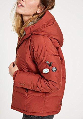 guateada mujer Larga Khujo oscuro Chaqueta Manga rojo Básico para chaqueta n4EqxBF0