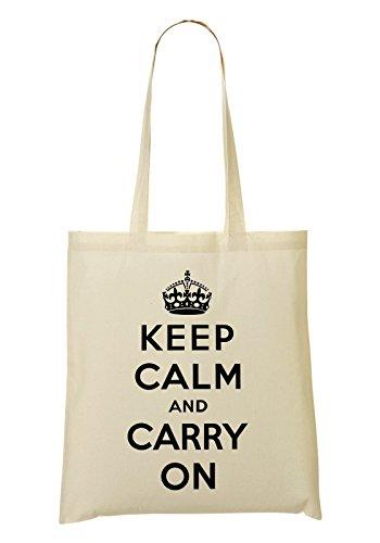 On De La Mano Keep Bolso De Compra Bolsa Carry Calm And qRnOt7