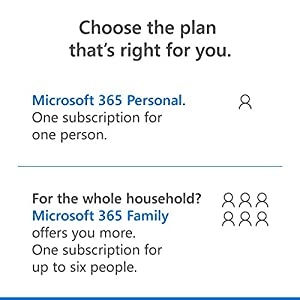 Microsoft 365 Personal | Office 365 apps | 1 user | 1 year subscription | PC/Mac, Tablet and phone | multilingual | box