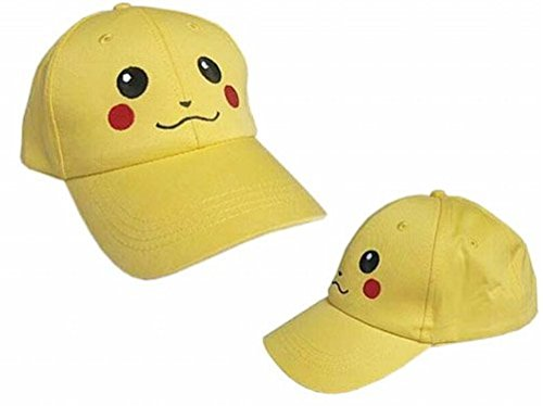 Pokemon Yellow Baseball Cap Pikachu Hat