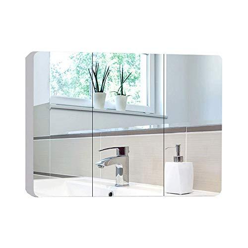 QWERTY Home Bathroom Cabinet with Mirrors,Bathroom Wall Storage Mirror,Modern Gloss White Bathroom -