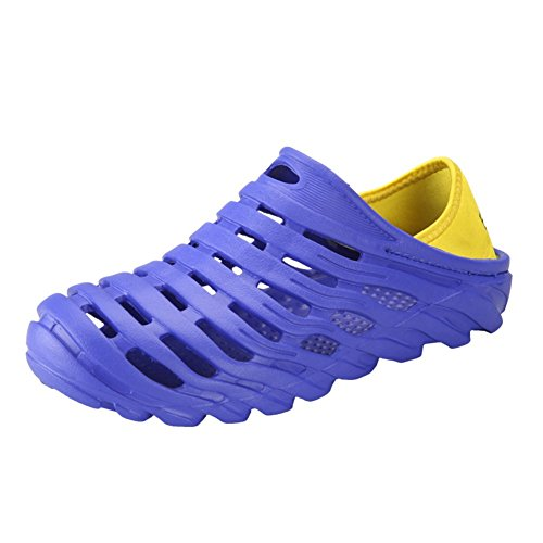 Leader show Mens Summer Pull-On Beach Water Shoes Light Hollow Out Slippers Sandal Clogs Blue sCYbLPt7