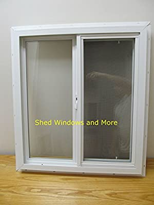 Double Pane Insulated Horizontal Slider Windows Mobile Homes, Tiny Houses, Sheds, Playhouses, He-Shed, She-Shed, Garages