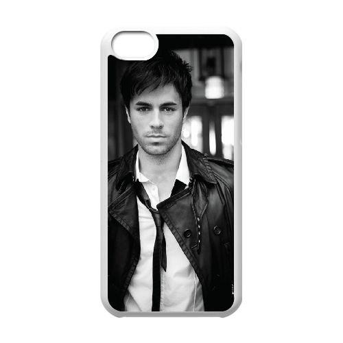 Enrique Iglesias 005 coque iPhone 5C Housse Blanc téléphone portable couverture de cas coque EOKXLLNCD16486