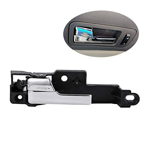 (Interior Door Handle Driver Side Front Left Chrome for 2006-2012 Ford Fusion 2006 2007 2008 2009 2010 2011 Mercury Milan 2007-2012 Lincoln MKZ 2006 Lincoln Zephyr Replaces 6E5Z-5422601-A 6E5Z5422601A)