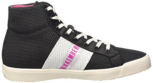 Bikkembergs Campus 121 M.Shoes W Fabric/Leather, Zapatillas Altas para Mujer Negro (Black/White)