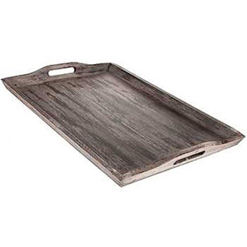 Wooden ottoman tray