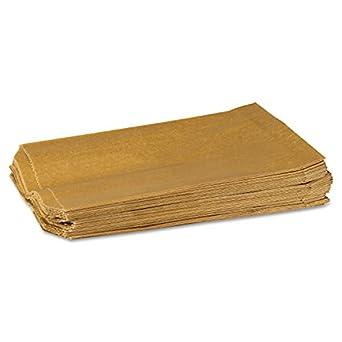 """Hospeco KL Waxed Kraft Feminine Hygiene Liner Bag with Gusset (Case of 500), 10.25"""" x 7.5"""" x 3.5"""""""