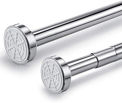 FXCIST Tringle de rideau de douche extensible en acier inoxydable pour rideau de douche 85-140 cm