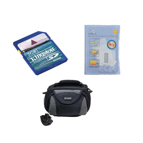 Toshiba Camileo B10 Camcorder Accessory Kit includes: SDC-26 Case, KSD2GB Memory Card, ZELCKSG Care & Cleaning by Synergy Digital