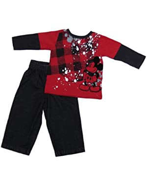 Mickey Mouse Infant Boys 2pc Jeans Set