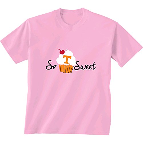 Lady Tennessee Vols T-shirts - New World Graphics NCAA Tennessee Volunteers Kids Cupcake Short Sleeve Tee, 2T, Pink