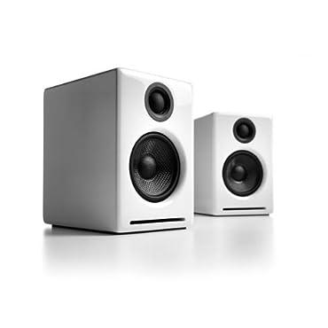 Audioengine A2+ 2-way Powered Speaker System (White, Pair)