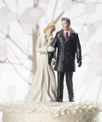 Winter Wonderland Wedding Couple Figurine (Cakes Wedding Winter Wonderland)