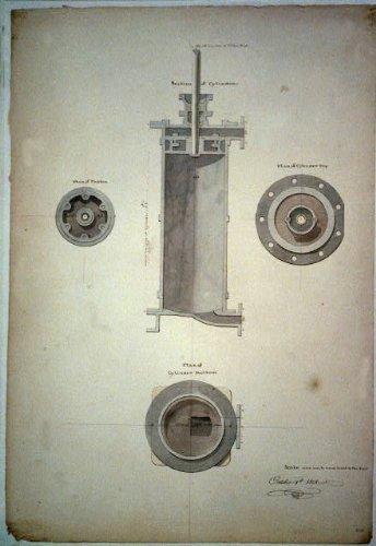 Infinite Photographs Photo: Steam Engine, Piston, Cylinder, Benjamin Henry Latrobe Size: 8x10 (Approximately)