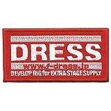 ドレス(DRESS) ロゴワッペン LD-OP-0100 レッド M