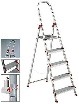 Rolser S.A. - Escalera aluminio rolser 5 peldaños: Amazon.es: Hogar