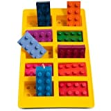 Molde De Silicon Para Hielos En Forma De Bloques Lego