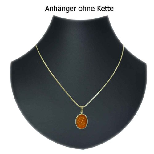 In Collections - 1000103394L100 - Pendentif Femme - Or jaune 333/1000 (8 cts) - ambre