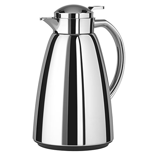 Emsa Campo Stainless Steel Thermal Carafe with Glass Liner, 34 oz, Chrome