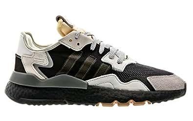 6e8316dc2650f Zapatilla Hombre Adidas Nite Jogger Gris Malla  Amazon.es  Zapatos y  complementos