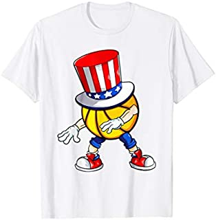 Flossing Basketball With USA Hat Patriotic 4th Of July T-shirt   Size S - 5XL