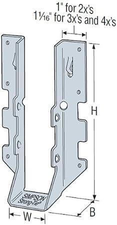 SIMPSON STRONG TIE LUS24Z G185 2x4 Joist Hanger