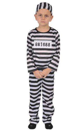 [Kids Prisoner Costume - Large] (Jail Costume For Kids)