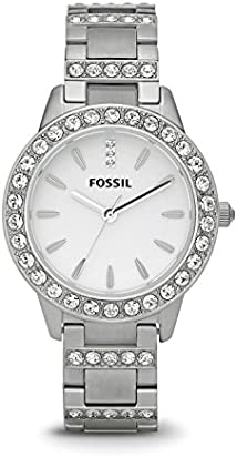 Fossil Women's Jesse Quartz Stainless Steel Dress Watch, Color: Silver (Model: ES2362)