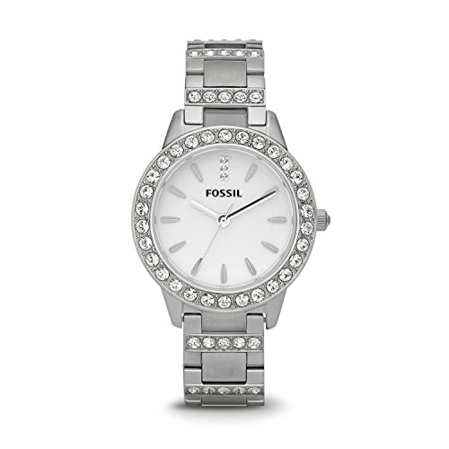 - Fossil Women's Jesse Quartz Stainless Steel Dress Watch, Color: Silver (Model: ES2362)