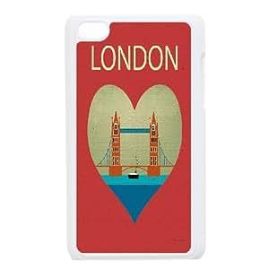 YAYADE Phone Case Of uk illustration For Ipod Touch 4
