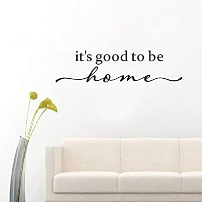 """Family Inspirational Wall Sticker,(Black) Vinyl Motivational Words Vinyl Romantic Decal for Living Room Wall Decor-""""It's Good to be Home"""""""
