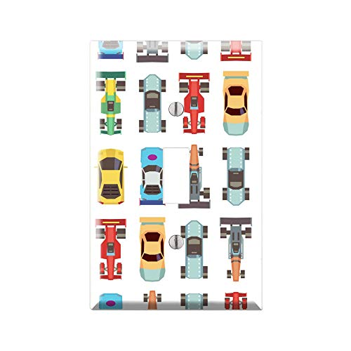 RACE CAR Light Switch Cover Wall Plate, CAR Graphics Wallplate, Outlet Cover, Single Toggle, Single Rocker, Outlet Cover, Gift for Car Lover, Car Decor for Kids Room, Car Wall Plate Cover TF100