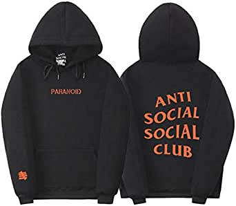 ANTI SOCIAL SOCIAL CLUB Sweatshirt Youth Fleece Hoodie Casual Pullover for unisex