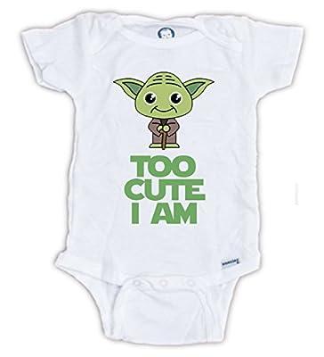 STAR WARS Cute Yoda Baby Onesie, Baby Bodysuit, Yoda Onesie, Star Wars Onesie